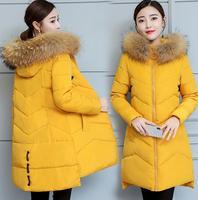 Maternity Big Fur Parkas pregnant Winter Coat Thick Cotton Winter Jacket maternity Outwear Parkas for pregnancy Winter jacket