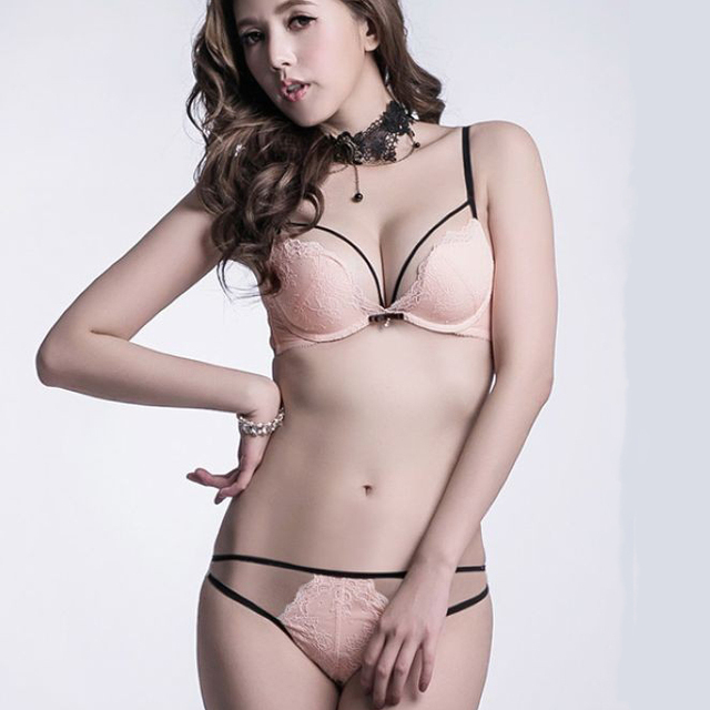 Hot sexy hollow out seductive underwear women bra set embroidery push up fashion  lace lady girl 30519d8e6