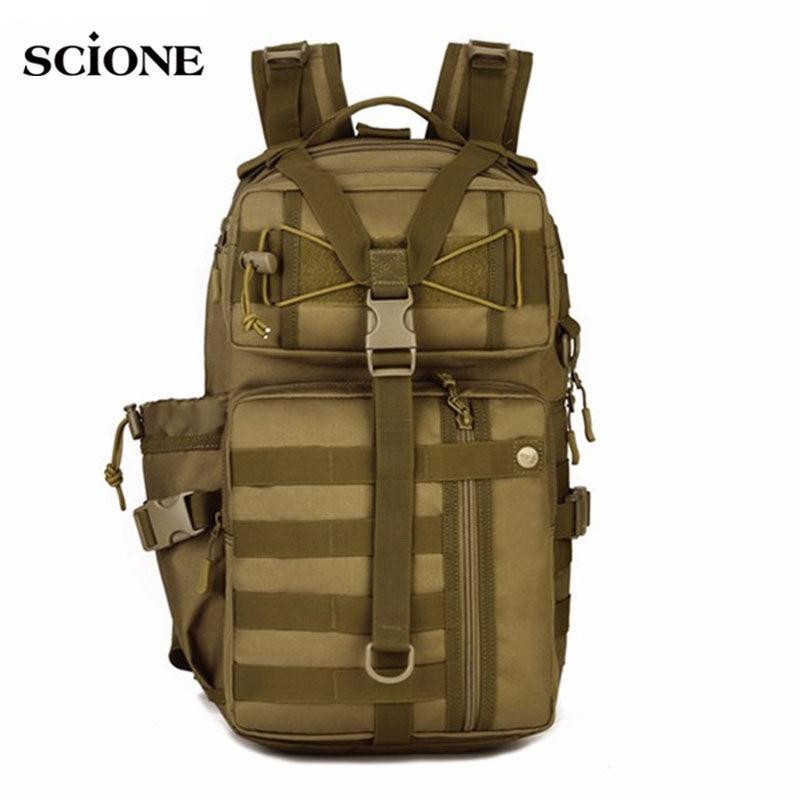 Men Women Military Tactical Backpack For Trekking Mountaineering Hiking Camping Rucksack Molle Bag Waterproof Backpacks XA176WA