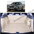 free shipping 5d full cover fiber leather waterproof car trunk mat for audi q5 2009-2016