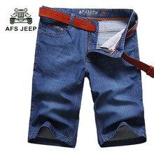 Afs jeep новые 2017 мужчины шорты марка летний новый мужские джинсы шорты Плюс Размер Моде Шорты Хлопок Джинсы мужские Тонкие Джинсы Шорты 66z