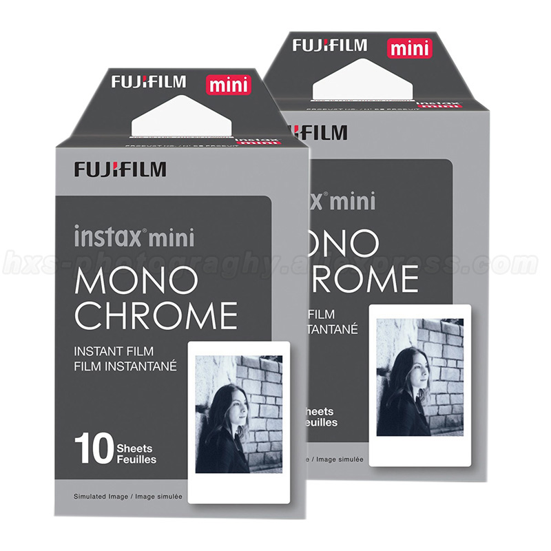 20 pcs Monochrome Fujifilm Instax Mini Film Pour Fuji Mini 9 8 7 s 70 50 90 25 Partager SP-1 SP-2 Polaroid 300 Instant Photo Caméra