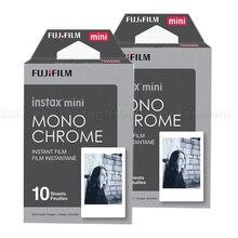 2016 Новый 20 штук Fujifilm Instax Mini пленка монохромный для мини-8 9 7 s 7 50 s 50i 90 25 DW Share SP-1 поляроид мгновенных фотоаппарат