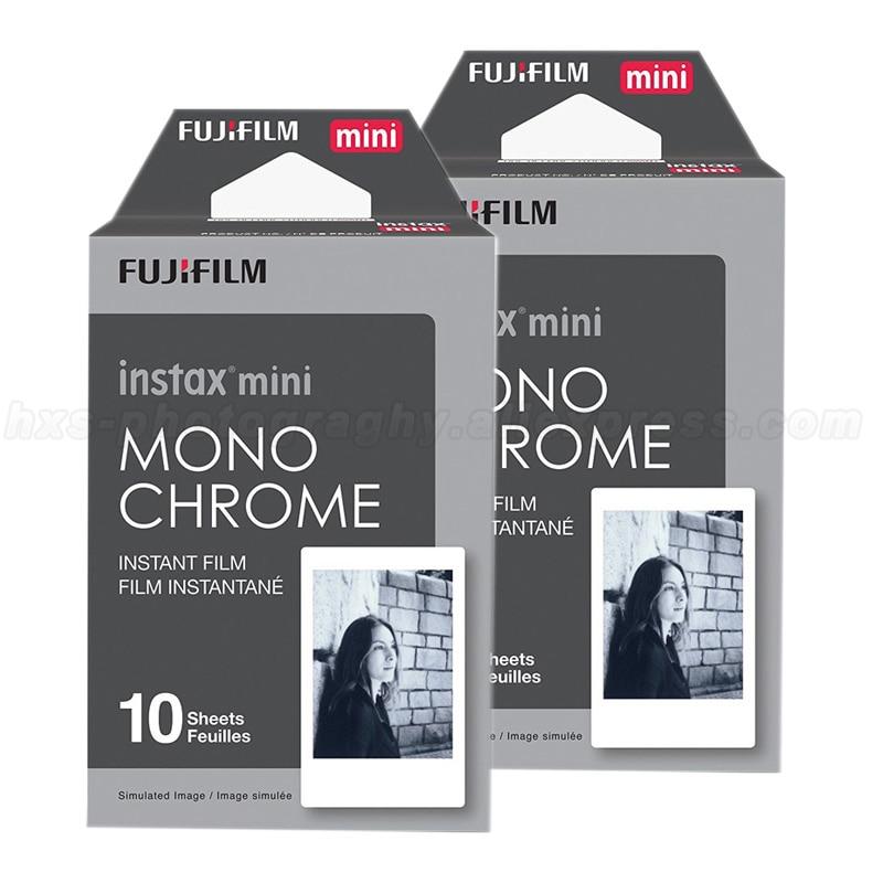 20pcs Monochrome Fujifilm Instax Mini Film For Fuji Mini 8 9 7s 7 50s 50i 90 25 dw Share SP-1 Polaroid Instant Photo Camera кассета для polaroid instax mini 7s 8 25 50s 90