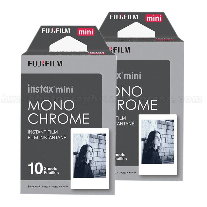 цена на 20pcs Monochrome Fujifilm Instax Mini Film For Fuji Mini 9 8 7s 70 50 90 25 Share SP-1 SP-2 Polaroid 300 Instant Photo Camera