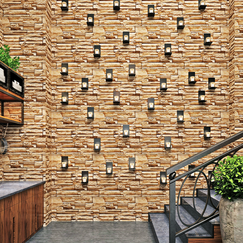 Aliexpress.com : Buy Embossed 3D Brick Wallpaper Removable