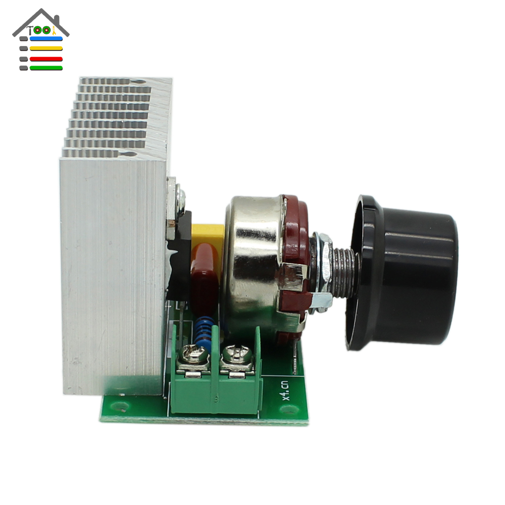 Autotoolhome ac 220v 3800w scr voltage regulator dimming for Ac speed control motor