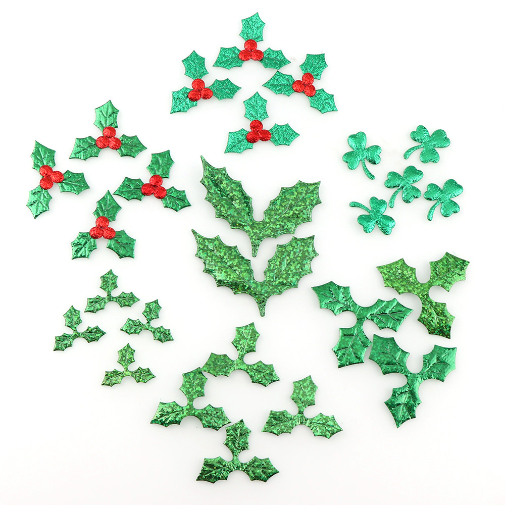 100pc Christmas 3cm Red Fruit With Green Leaves Christmas Tree Decoration Supplies DIY Art Fabric Accessories Room Kindergarten