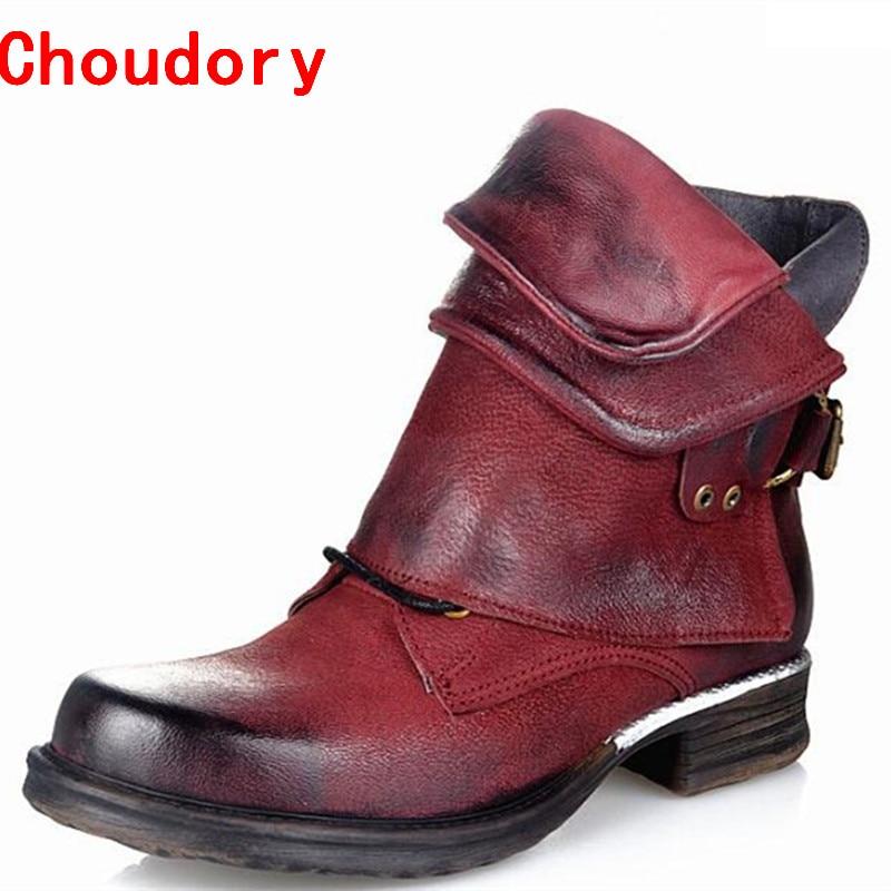 Bottes femmes genuine leather cowboy boots leather stockings rain boots buckle strap side zip botas mujer shoes woman size10 cxa1619 cxa1619bm