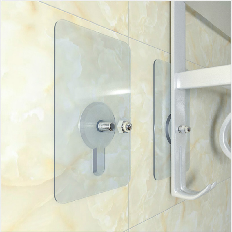 Hot Sale Multifunction Punch-free Screws Strong Transparent Suction Cup Sucker Wall Hooks Hanger For Kitchen Bathroom 6pcs