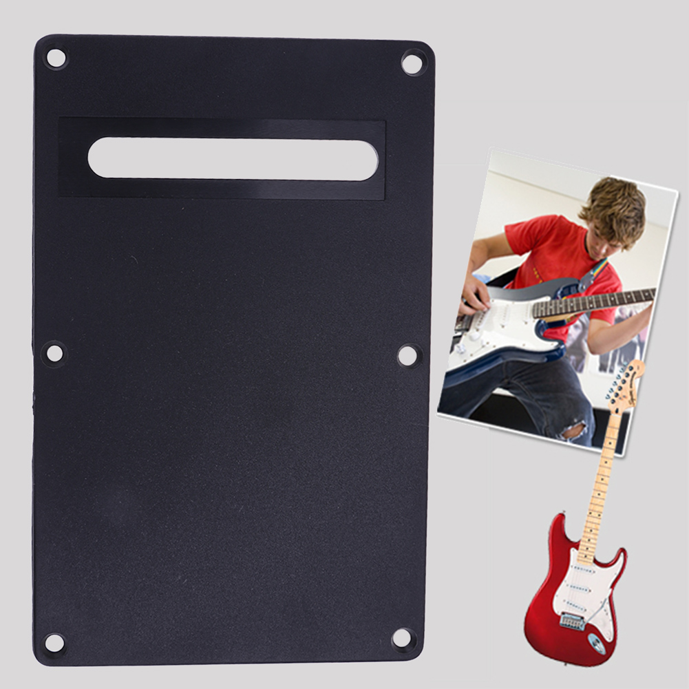 Black White Guitar Backplate PVC Pickguard Electric Guitar Protective Cover Backplate Music Accessories