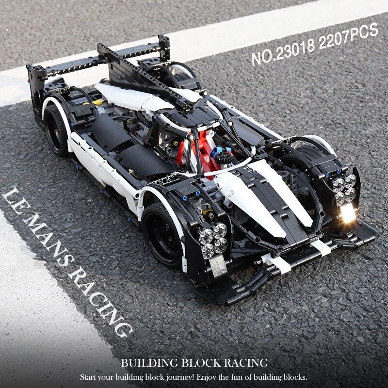 Oyuncaklar ve Hobi Ürünleri'ten Bloklar'de 23018 Teknik oyuncak arabalar Ile Uyumlu Moc 5530 Hibrid Süper Yarış Hızlı Araba Blokları Tuğla Yapı Çocuklar oyuncak araba Modeli Hediyeler'da  Grup 1