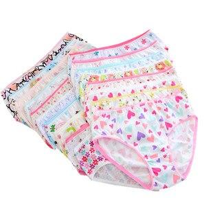 Image 2 - (24Pieces/lot) 100% Cotton Girls Underwear Chirdren Briefs  Panties  Kids Underwear 2 12 Years