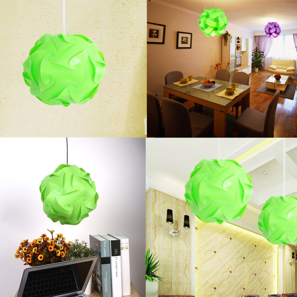 Home Bar Decoration Puzzle Creative Jigsaw Decor Light Lamp Shade Lampshade Design S Size