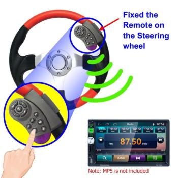 11-Key Portable Carro Controle Remoto Universal Car MP5 Multimedia Player CD DVD VCD Steering Wheel Wireless Remote Control image