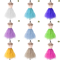 48 Hours Shipping Petticoat Woman Underskirt For Adult 2018 New Arrival Rockabilly Petticoats Colorful In Stock