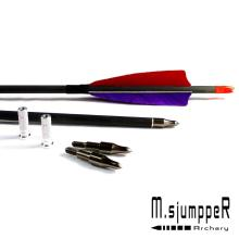 High Proportion Carbon Arrows Spine 500 For Hunting And Shooting Bow 28/29/30Inch Shaft With Real Feather 6PK
