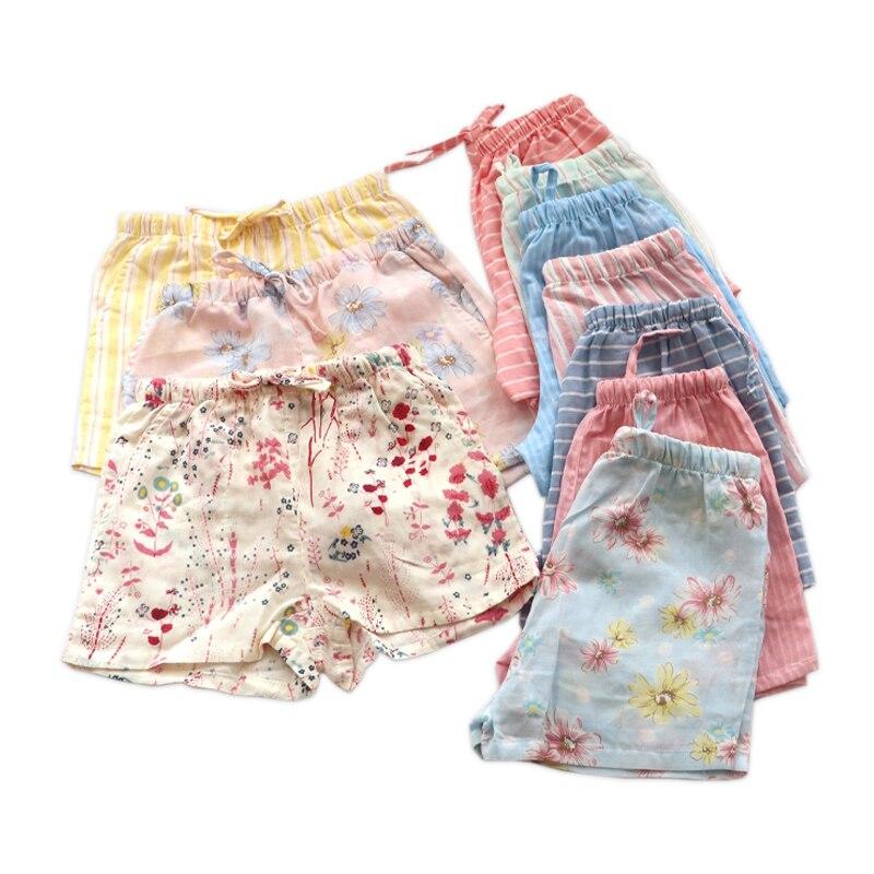 Summer Sexy Floral Shorts For Women Soft 100% Cotton Women Sleepwear Fashion Shorts Pajama Pants Sleep Bottoms Women