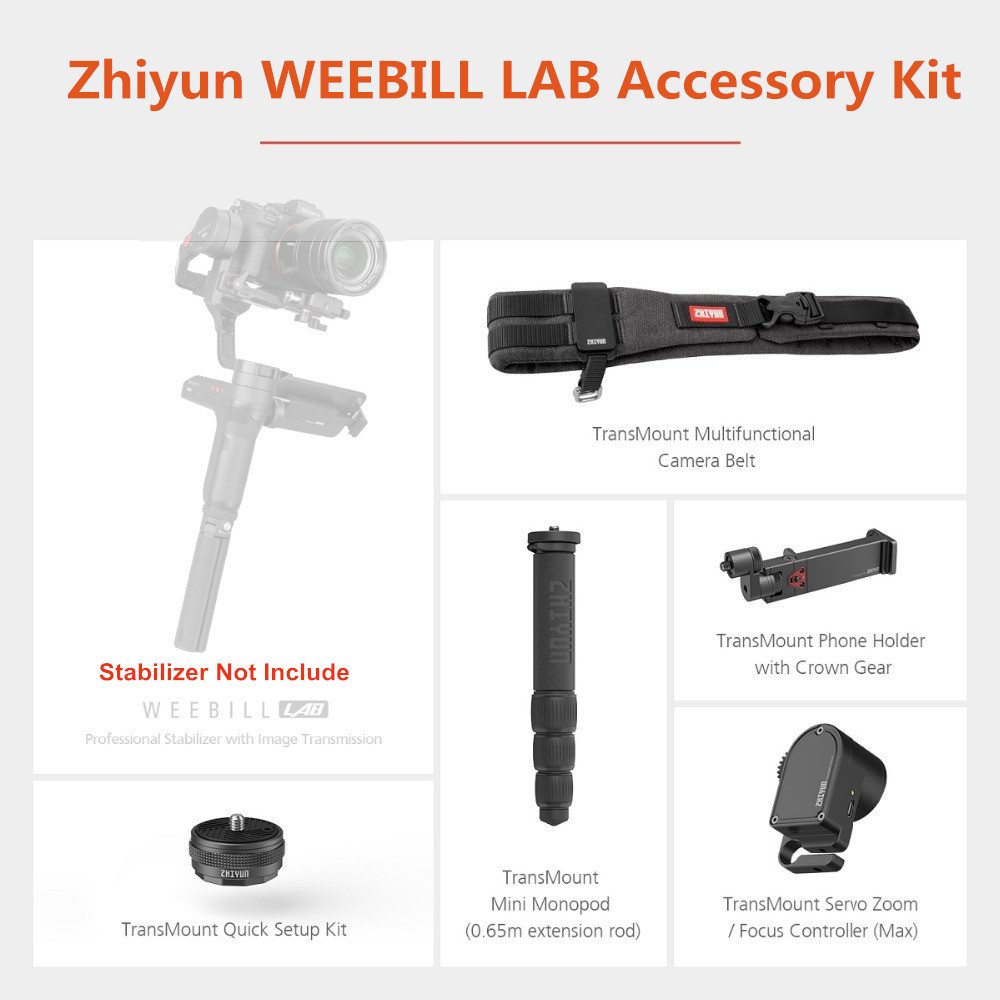 Zhiyun WEEBILL LAB Accessory Kit for Creator Package Include Focus Controller Mini Monopod Phone Holder Quick