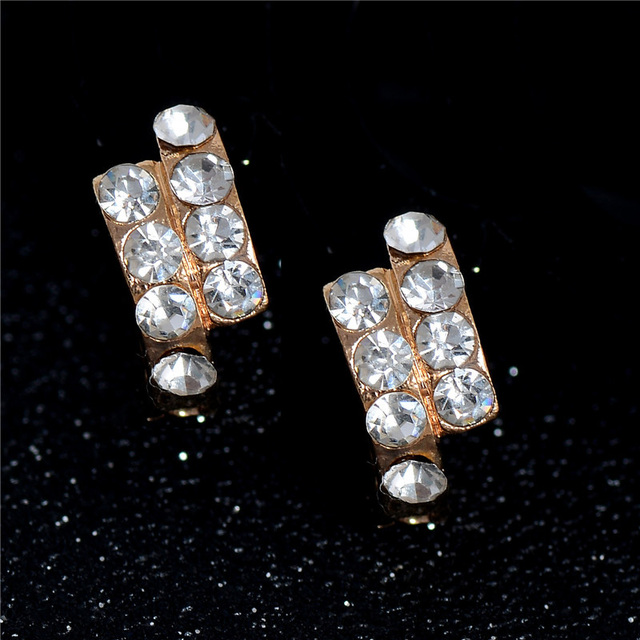 SHUANGR Free Shipping Gold Filled Ear Cuff Earrings Brand New