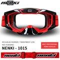 NENKI Men Women Helmet Glasses Ski Snowboard Glasses Windproof Motorcycle Racing Eyewear Replaceable Lens