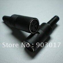 4 Pin 5 Pin 6 Pin 7 Pin 8 Pin разъем DIN с пластиковой ручкой 200 шт. в партии высокого качества