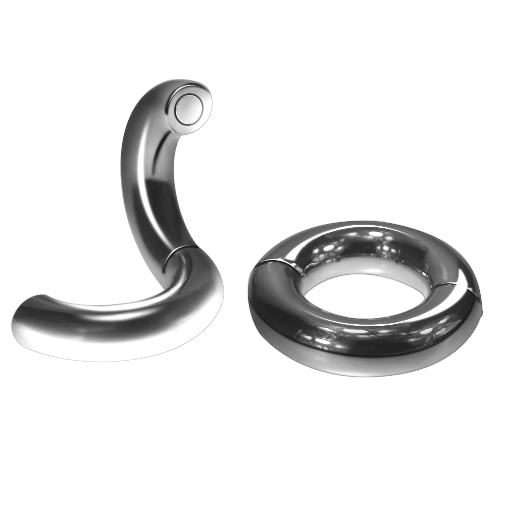 3 size for choose Heavy Duty Magnetic Stainless steel Ball Scrotum Stretcher metal penis cock Ring Delay ejaculation Sex Toy men