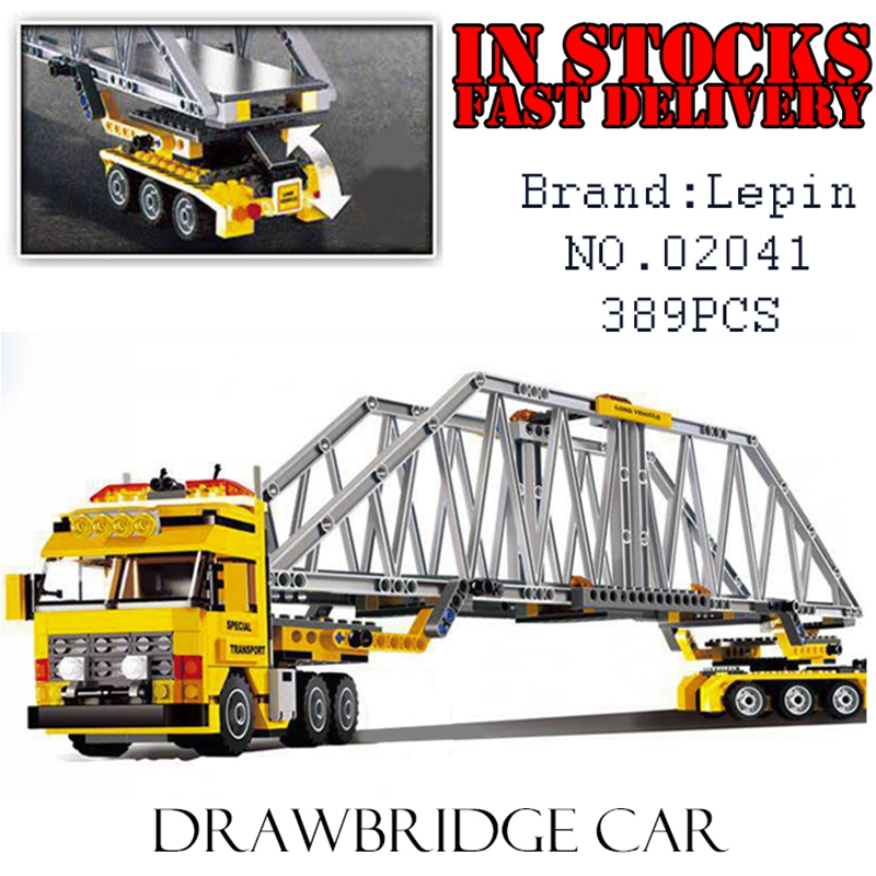 LEPIN City 02041 389PCS Heavy Loader Building Blocks Bricks enlighten toys for children Brithday gift brinquedos compatible 7900 city airport vip private plane blocks bricks building technic christmas toys for children compatible with legoeinglys lepin 8911