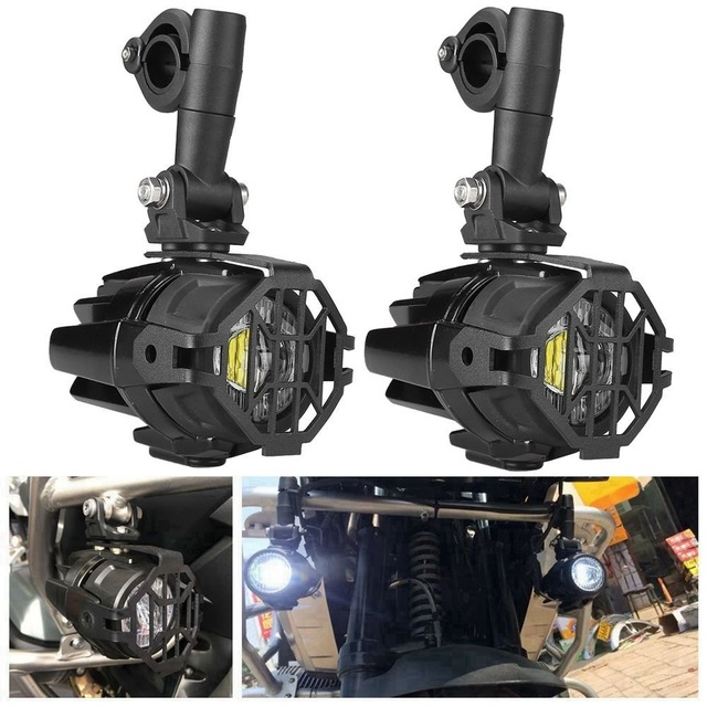 For BMW Motorcycle Parts Foglight Protector Guards Spotlight Cover OEM Fog Lights For BMW R1200GS F800GS Adventure ADV 2005-2013 цена