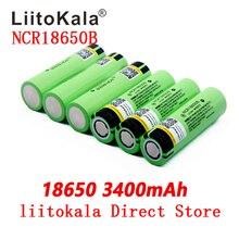 LiitoKala NCR18650B 34B 3,7 в 18650 3400 мАч перезаряжаемая литиевая батарея фонарик батарея