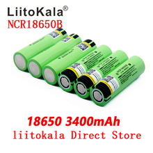 بطارية جديدة أصلية 2019 LiitoKala NCR18650B 34B 3.7V 18650 3400mAh قابلة للشحن بطارية ليثيوم مصباح يدوي بطارية
