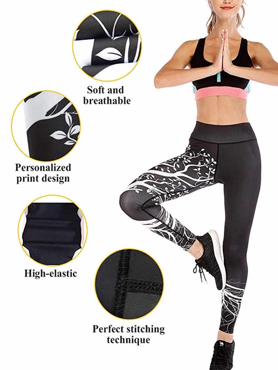 Сексуальные леггинсы для фитнеса с высокой талией, женские леггинсы с принтом в виде дерева, пуш-ап, леггинсы, женские джеггинсы, спортивная одежда