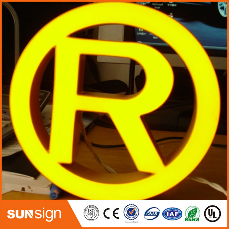 High Bright Epoxy Resin Led Channel Letter Sign For Advertisement