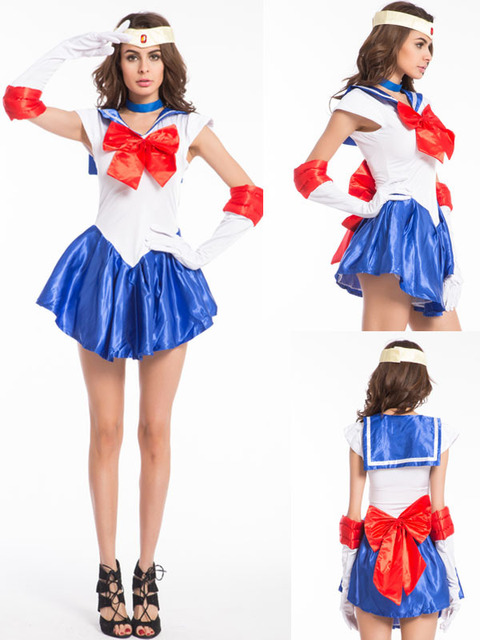 Kostenloser Versand Sailor Moon Kostüm Mercury Cosplay Kostüm Scouts