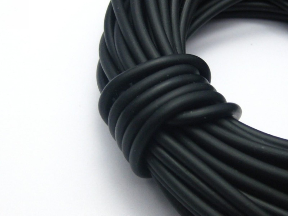 10 Meter Black 3mm Solid Rubber Jewelry Cord String For Pendants