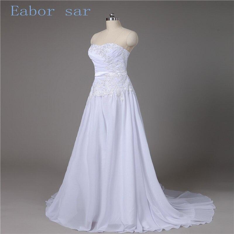 2017 New Arrival Chiffon font b Wedding b font Dresses Robe De Mariage A Line Lace
