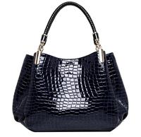 Fashion Femininas Women Single Shoulder High Grade PU Leather Crocodile Pattern Bags Bolsas Casual Tote Handbags