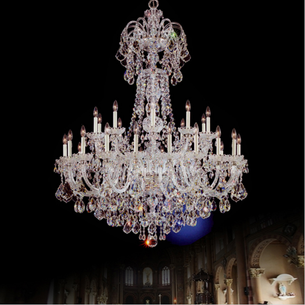 Large Crystal Chandeliers Lighting Fixtures Dining Room