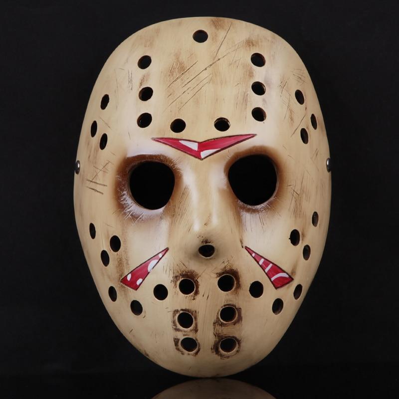 Marque À La Main Résine Effrayant Masque Accessoires Pour Halloween Décoration Partie Fournisseurs Horreur Masque Mode Jason Masques pour Cosplay
