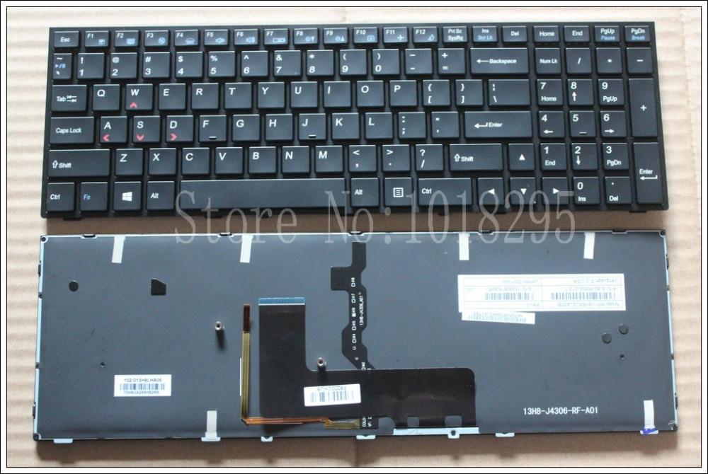NEW Keyboard for Clevo p650se Sager NP8651 P6500 Gaming Laptop Keyboard US English Backlit MP-13H83USJ430B