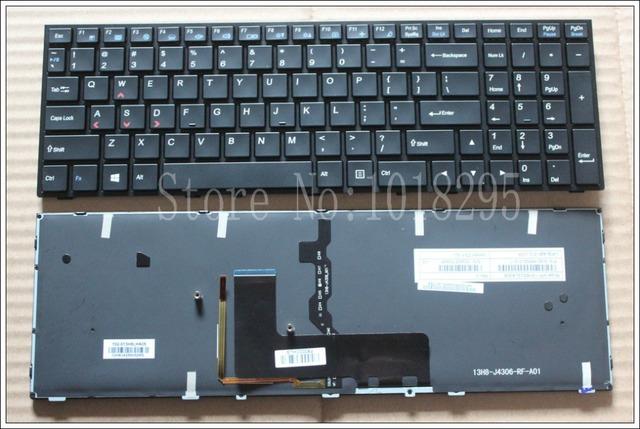 Nuevo teclado para Clevo p650se Sager NP8651 P6500 Gaming teclado del ordenador portátil ee.uu. inglés retroiluminado MP-13H83USJ430B