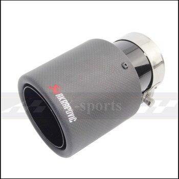 Akrapovic fibra de carbono mate sistema de escape de estilo de coche silenciador de tubería de prensado Universal Negro de acero inoxidable