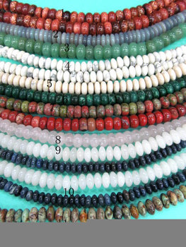 bulk 10strands 3-8mm natural assortment stone,Moss agate,Mookaite,Africal turqoise,opal rondelle abacus connector bead