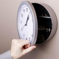壁時計、安全なクリエイティブ隠し秘密収納ボックス現金収納ホームオフィス盗撮安全壁時計安全 DHZ005