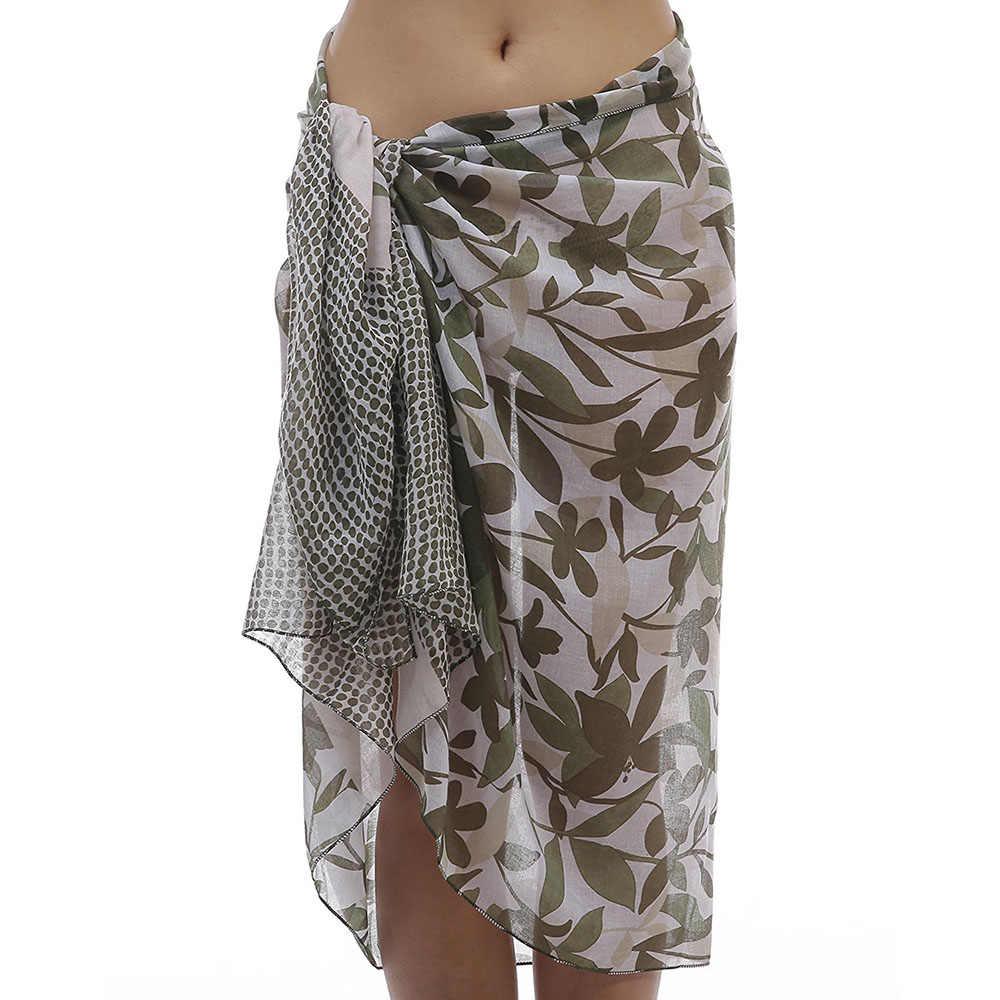 cf83a7db54 ... Women Sarongs Hawaiian Soft Viscose Beach Sarong Swim Wrap Pareo Batik  Bathing Suit Coverup V8010 ...