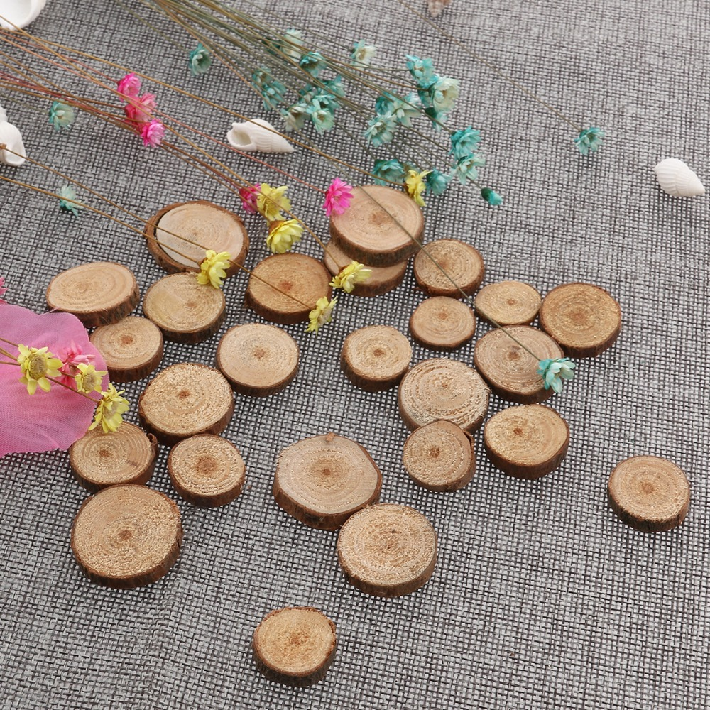 Approx 2cm Wood Log Slices Discs For Diy Crafts Wedding Centerpieces