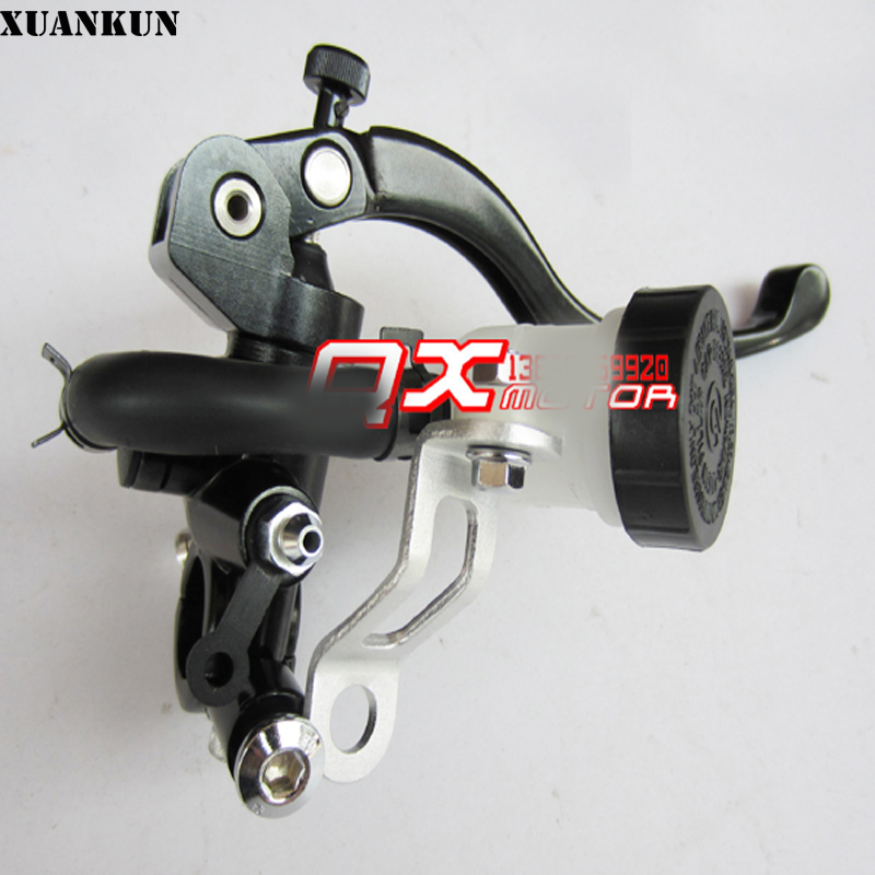 XUANKUN Motorcycle Modified Brake Hand Brake Straight Push On The Pump Right Direct Pressure Pump 19MM Piston Brake Pump Body xuankun motorcycle scooter electric motorcycle electric car brake on the pump before and after the disc brake pump