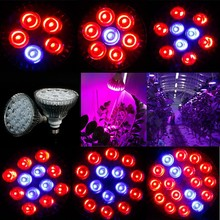Horticulture LED Grow lamp bulb Red+Blue+IR +UV +White E27 15W 21W 27W 36W 45W 54W LED Growth Lamp For Flower Plant System & Box