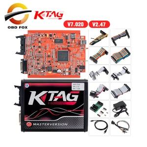Image 1 - k tag ecu programming tool V2.53 ktag V7.020 Kess v2 5.017 obd2 manager turning kit Master Online EU Red kess v2 5.017 DHL free