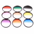 9pcs 52mm Graduated Color Lens Filter Kit For Nikon D3100 D3200 D5100 D5200 D7100 18-55mm DSLR Camera Protective Lens 52mm